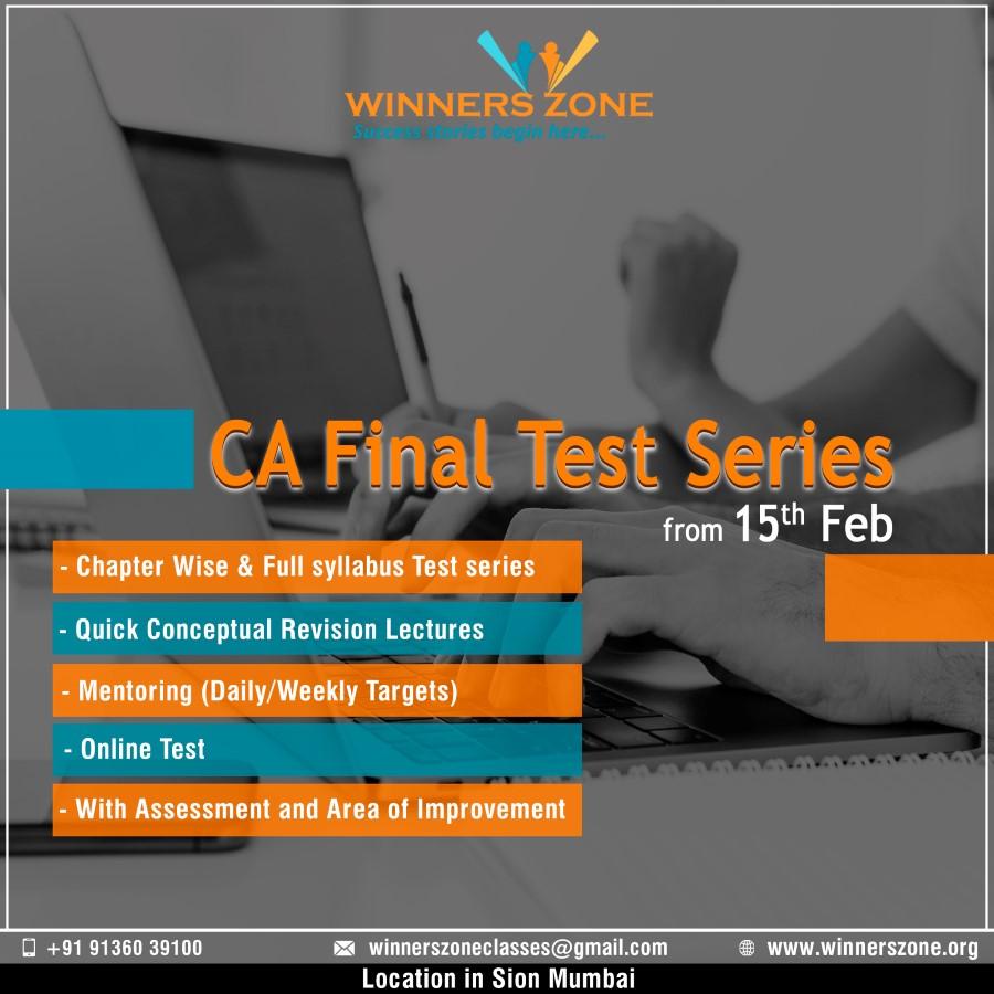 CA Final Test Series (Custom)