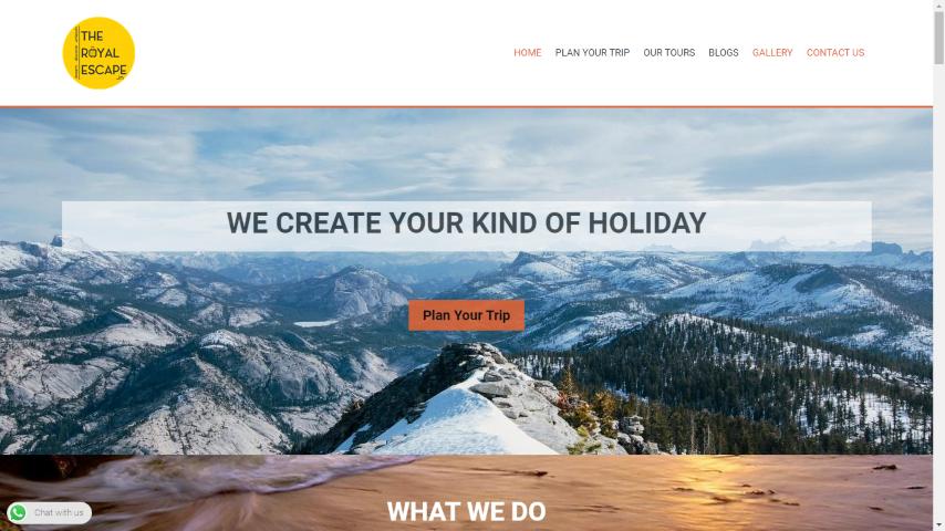 Website design for Travel Company