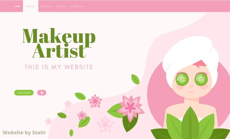 Website designing for makeup artist