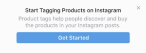 Instagram shop approval notification from Instagram