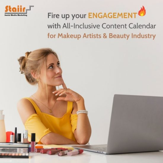 Increase your engagement using content calendar for makeup artists