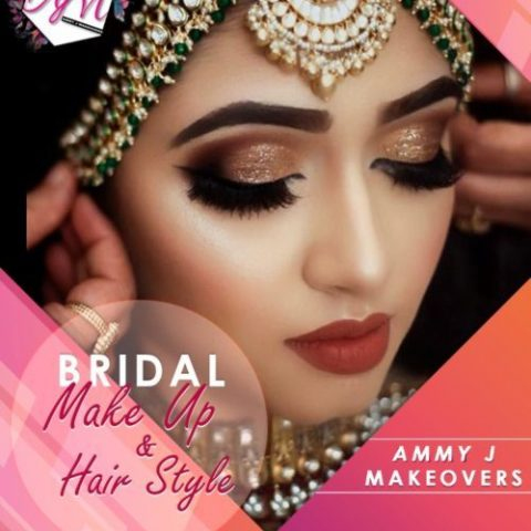 Bridal makeup and hair style for social media management