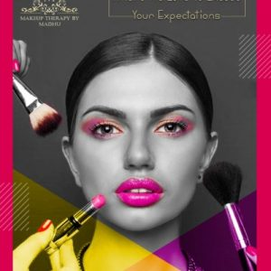 social media management for Makeup Artist with brush and lipstick